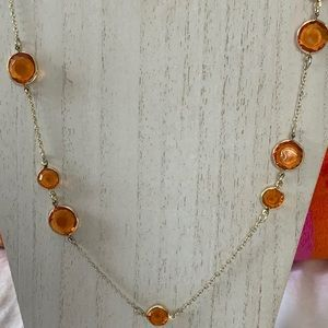 3/$20 Faceted Plastic Stone Necklace